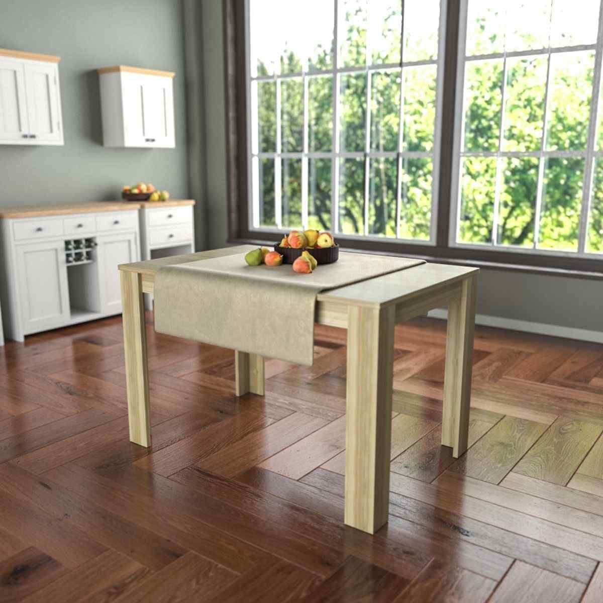 Medina 4 Seater Dining Table Oak Effect