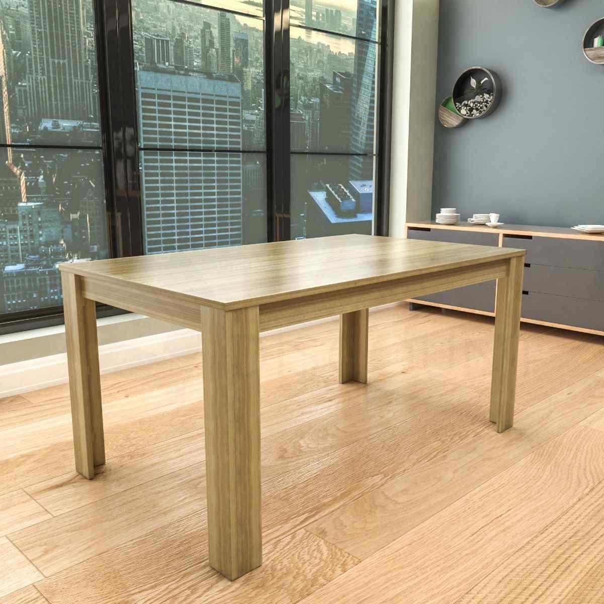 Medina 6 Seater Dining Table Oak Effect