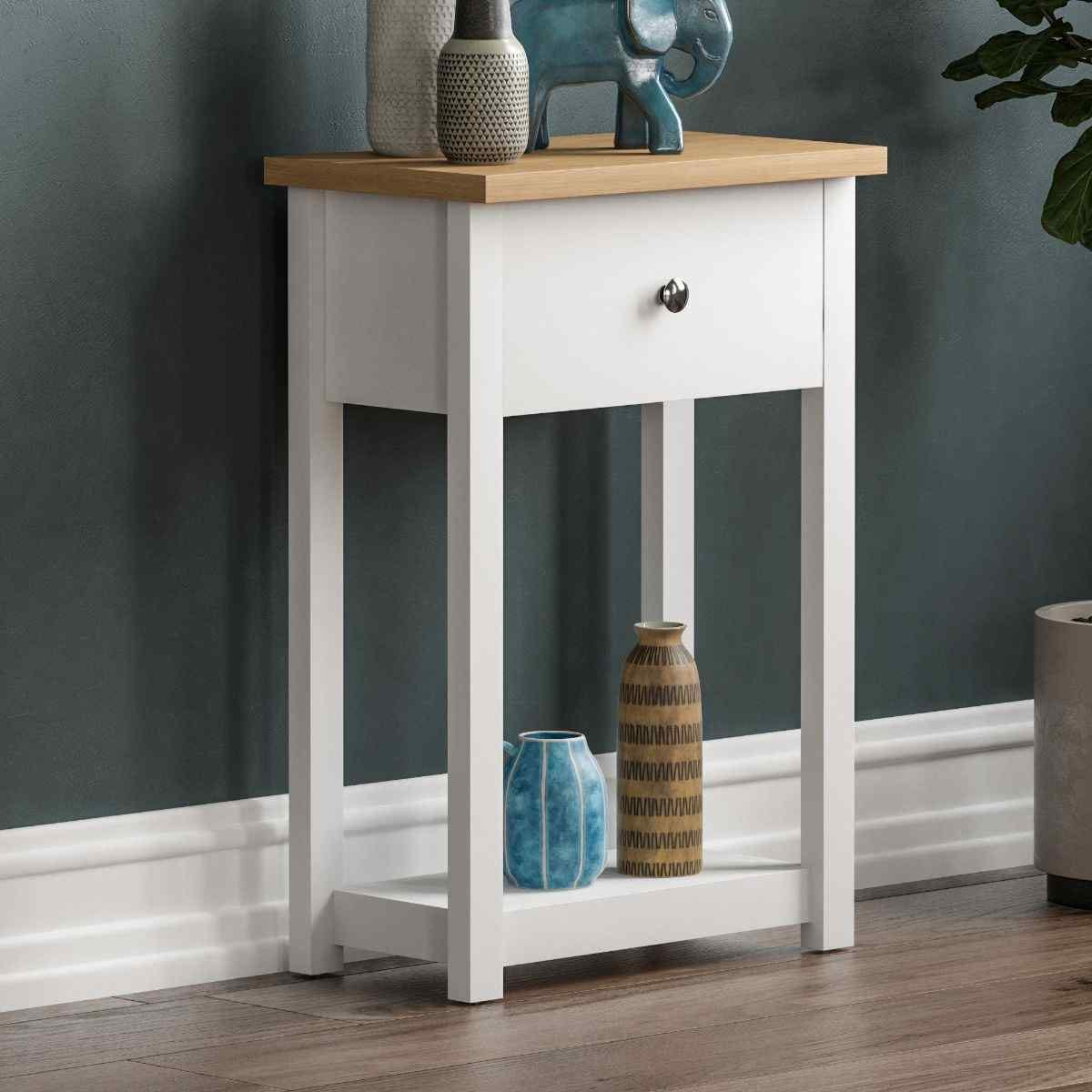 Arlington 1 Drawer Console Table White