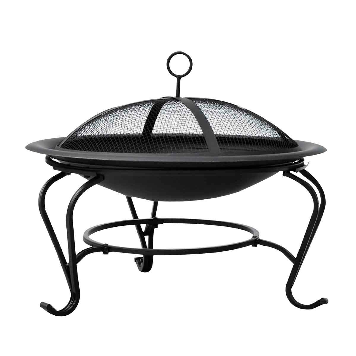 Outsunny Outdoor Fire Pit - Black