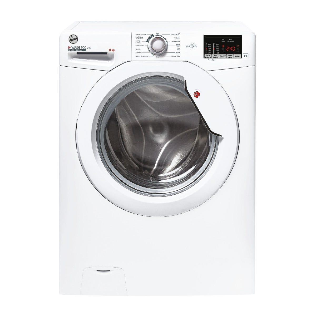 Hoover H3W 582DE H-Wash 300 8kg 1500rpm Washing Machine - White