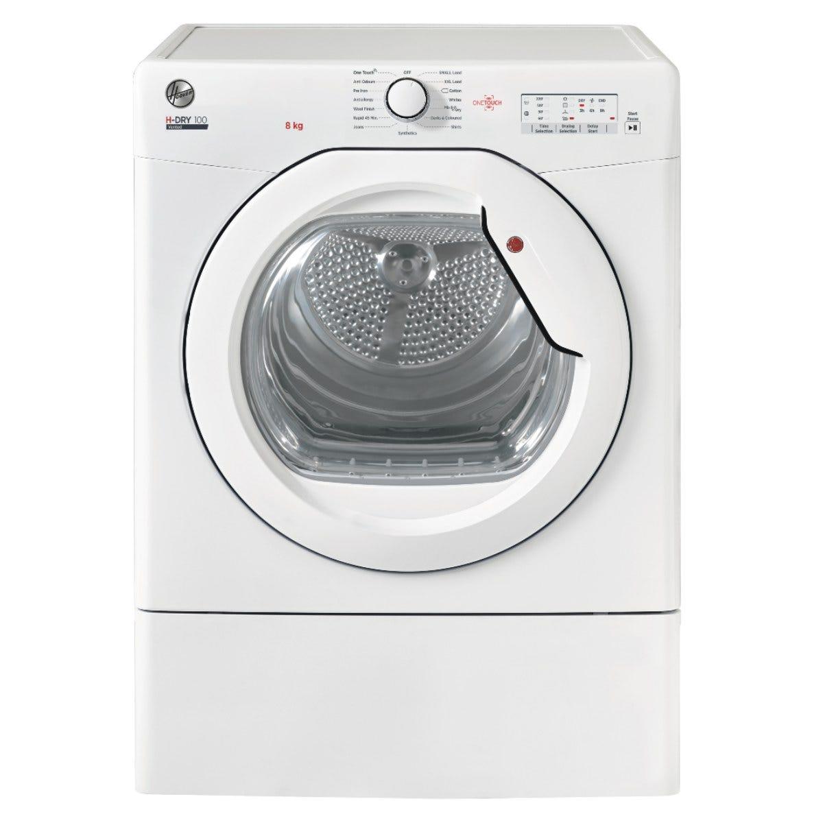 Hoover HLE V8LG-80 8kg Vented Tumble Dryer - White