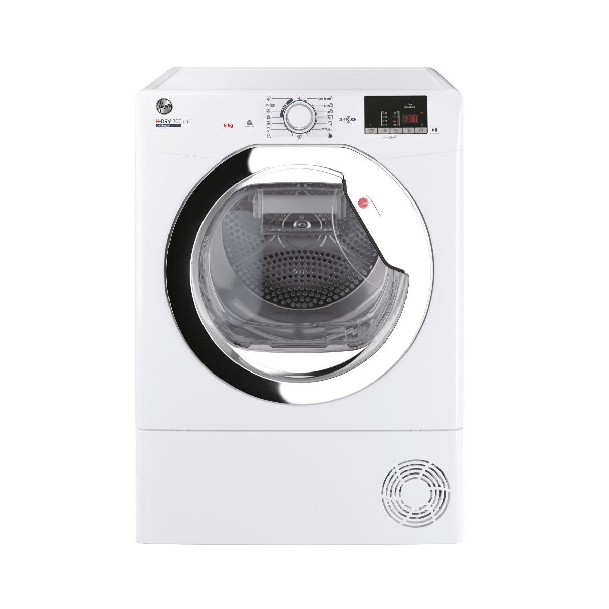 Hoover HLE C9DCE-80 9kg Condenser Tumble Dryer with Aquavision Water Tank - White