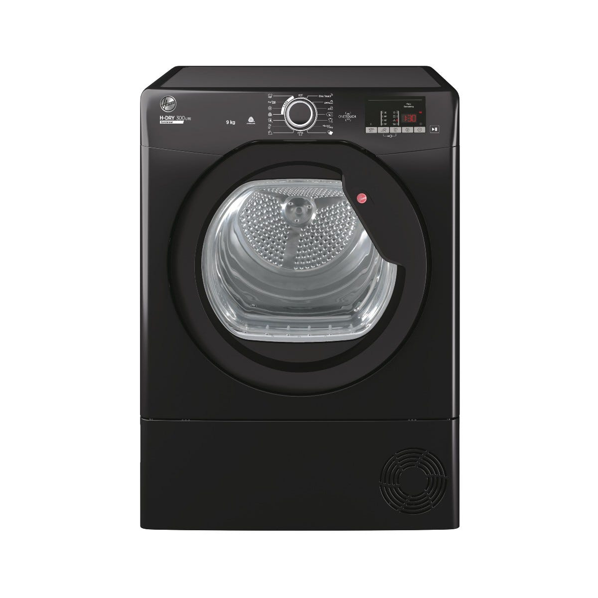 Hoover HLE C9DCE-80 9kg Condenser Tumble Dryer with Aquavision Water Tank - Black