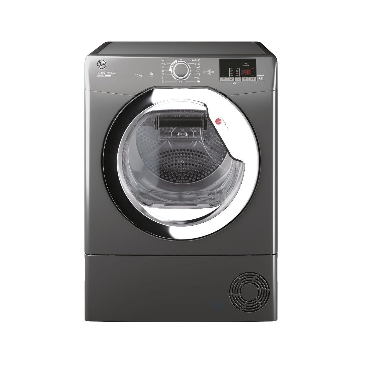 Hoover HLE C10DCER-80 10kg Condenser Tumble Dryer with Aquavision Water Tank - Grey