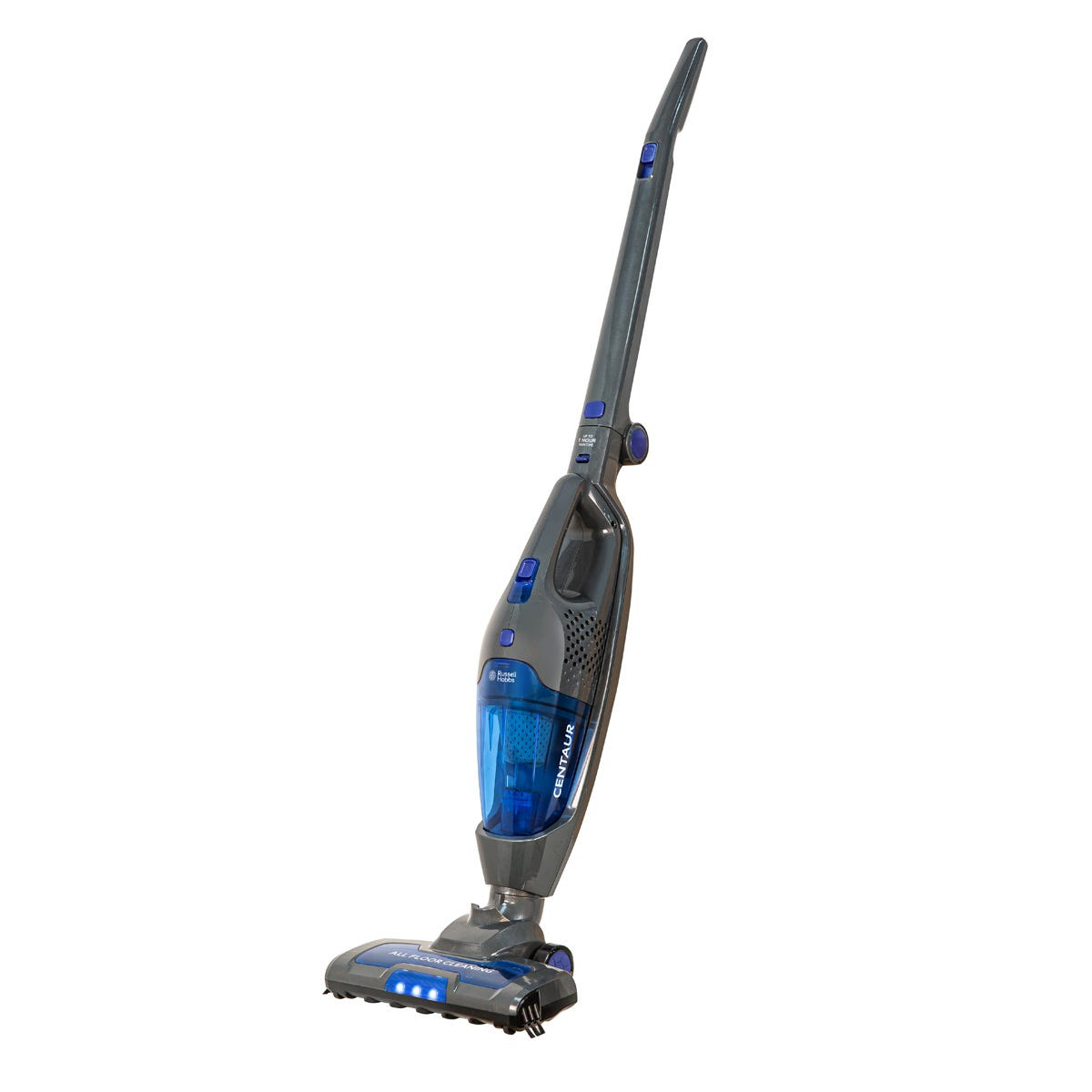 Russell Hobbs RHSV2211 Centaur 22V 0.5L Cordless 2-in-1 Stick Vacuum Cleaner - Grey and Blue