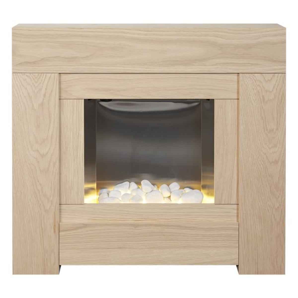 Adam Brooklyn Electric Fireplace Suite in Oak 30 Inch