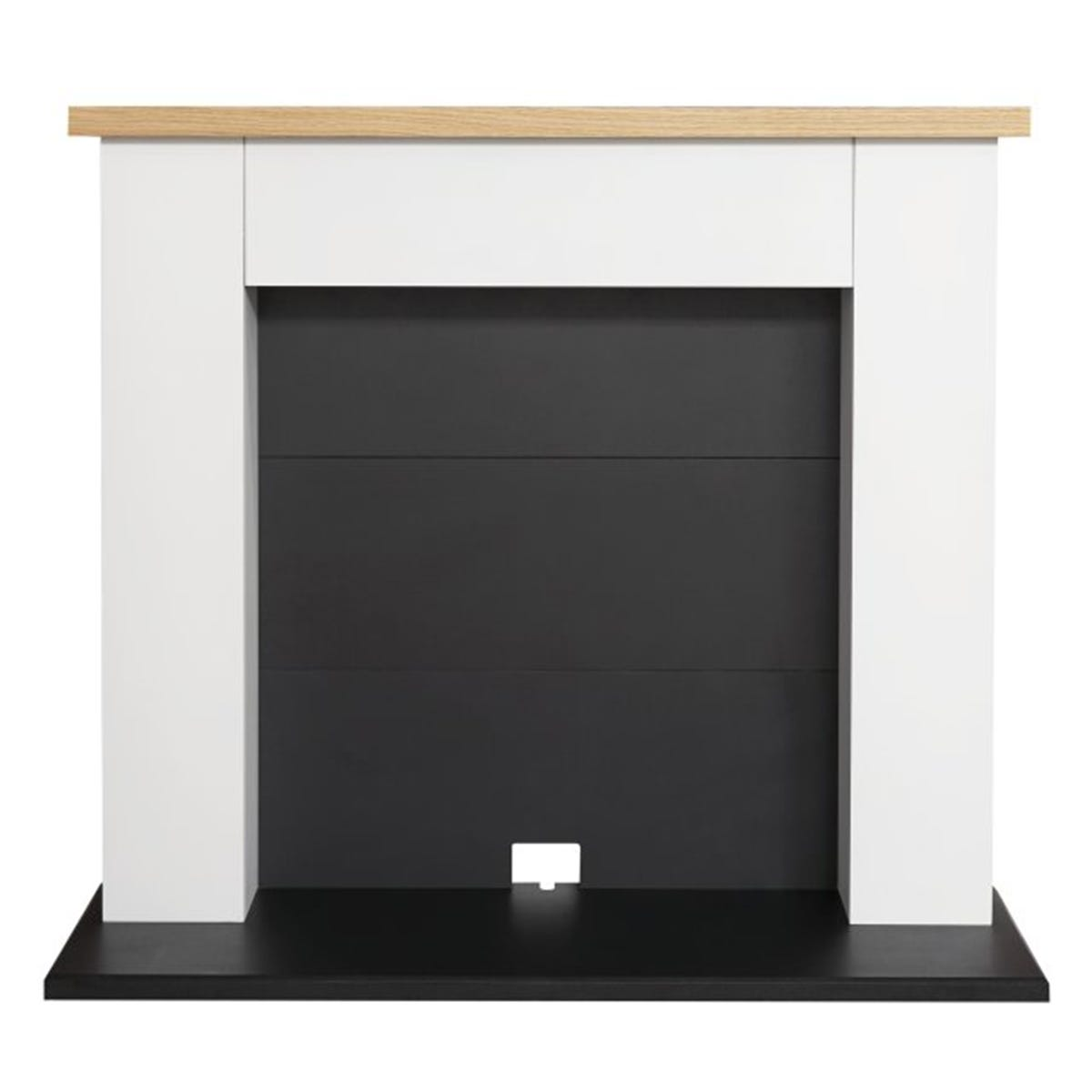 Adam Chester Electric Stove Fireplace in Pure White & Black 39 Inch