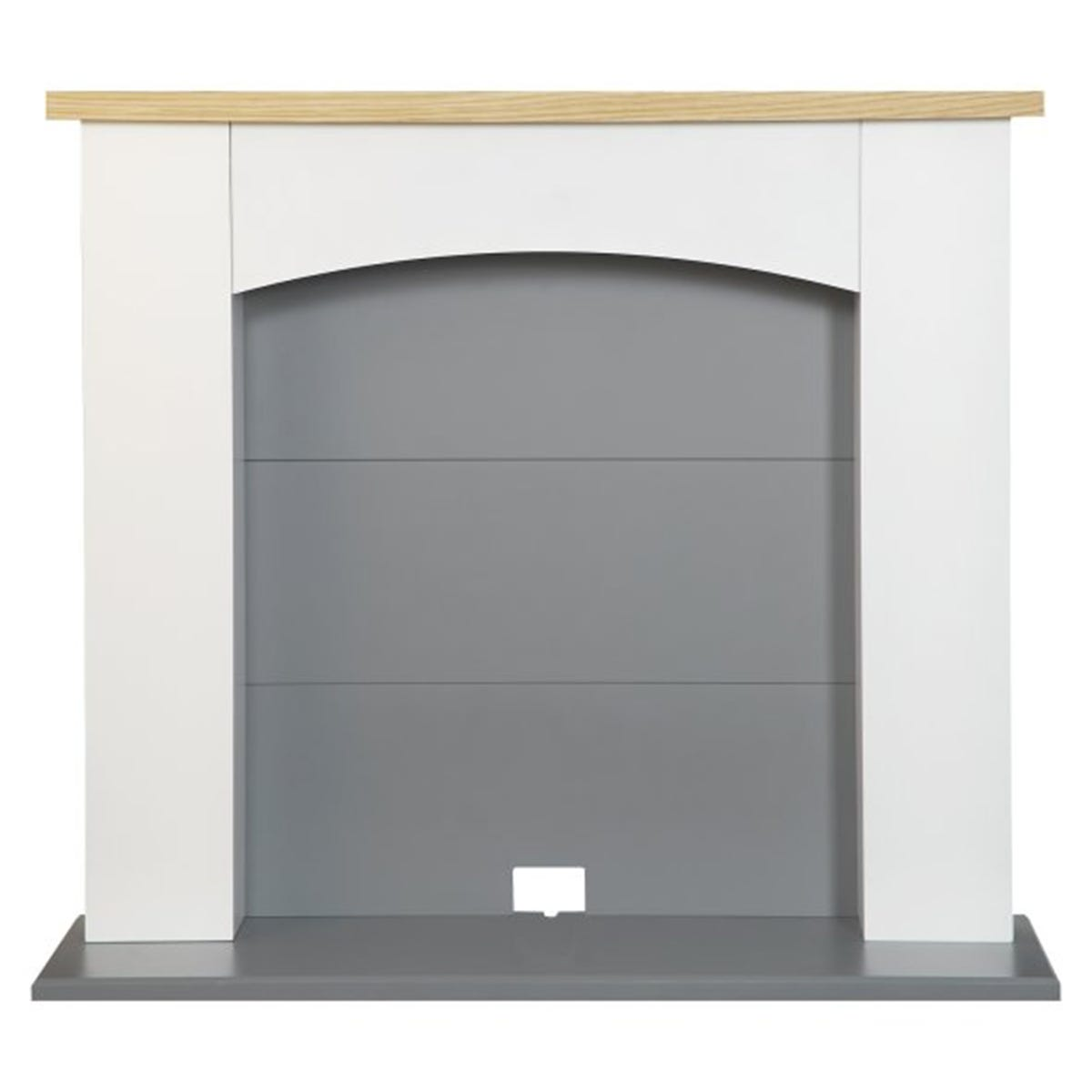 Adam Huxley Electric Stove Fireplace in Pure White & Grey 39 Inch