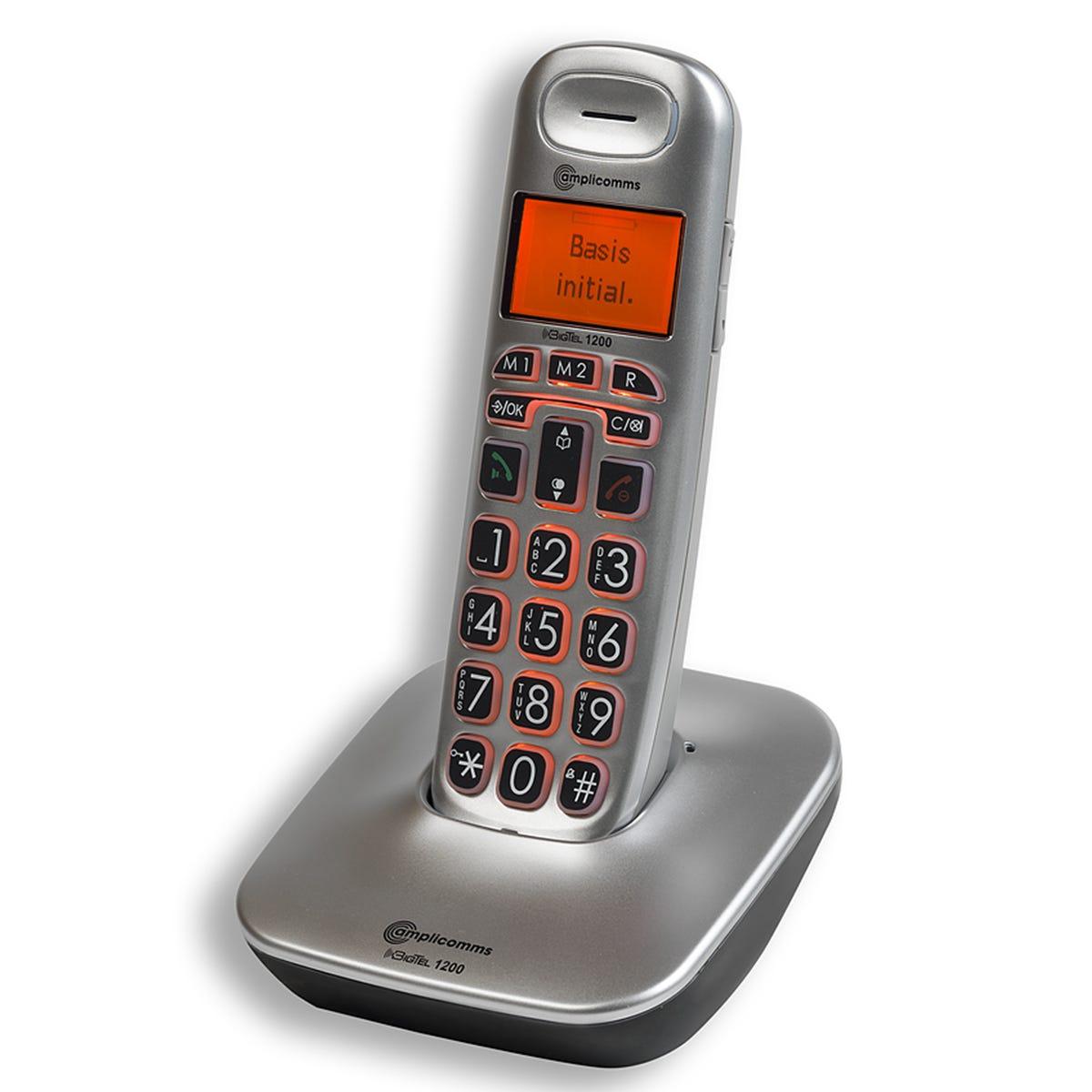 Amplicomms BigTel 1200 Cordless Phone - Single
