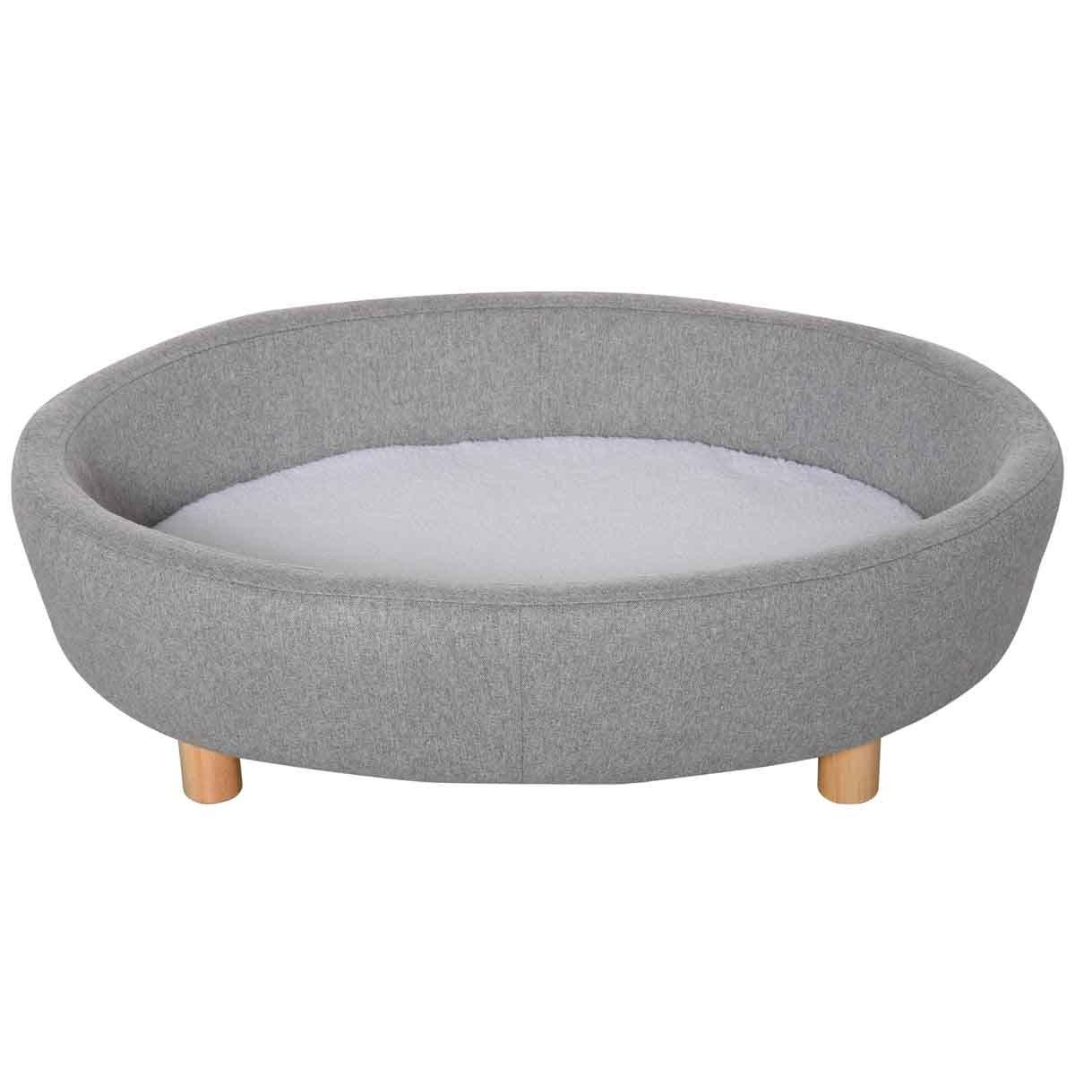 PawHut Soft Sofa Pet W/ Cushioned Bed & Wooden legs - Grey