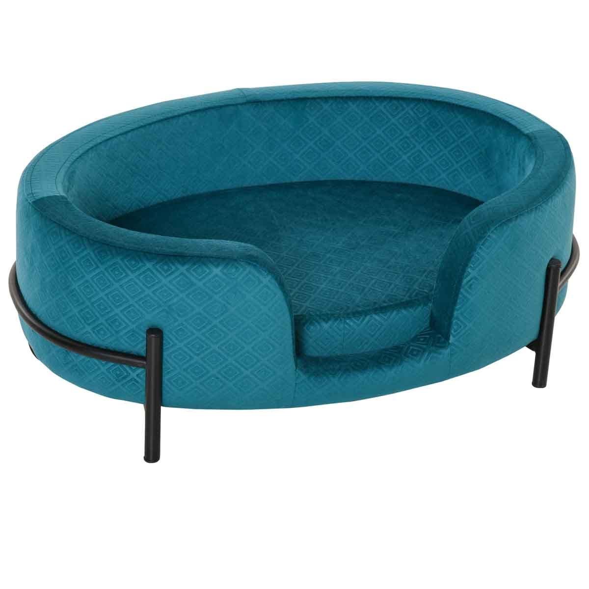 PawHut Pet Sofa W/ Removable Seat Cushion & Solid Metal Base - Teal