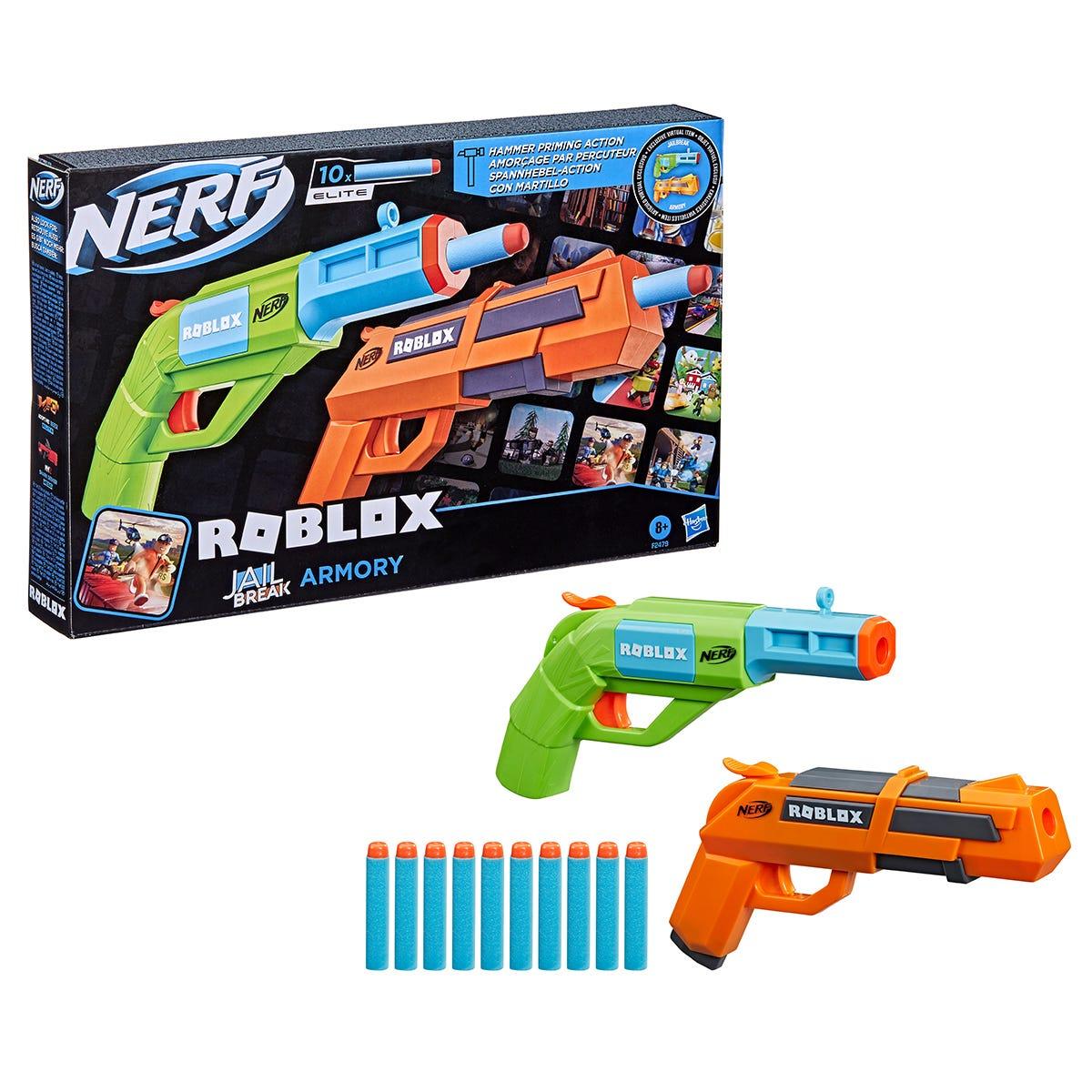 Nerf Roblox Jailbreak: Armory Includes 2 Blasters & 10 Nerf Darts