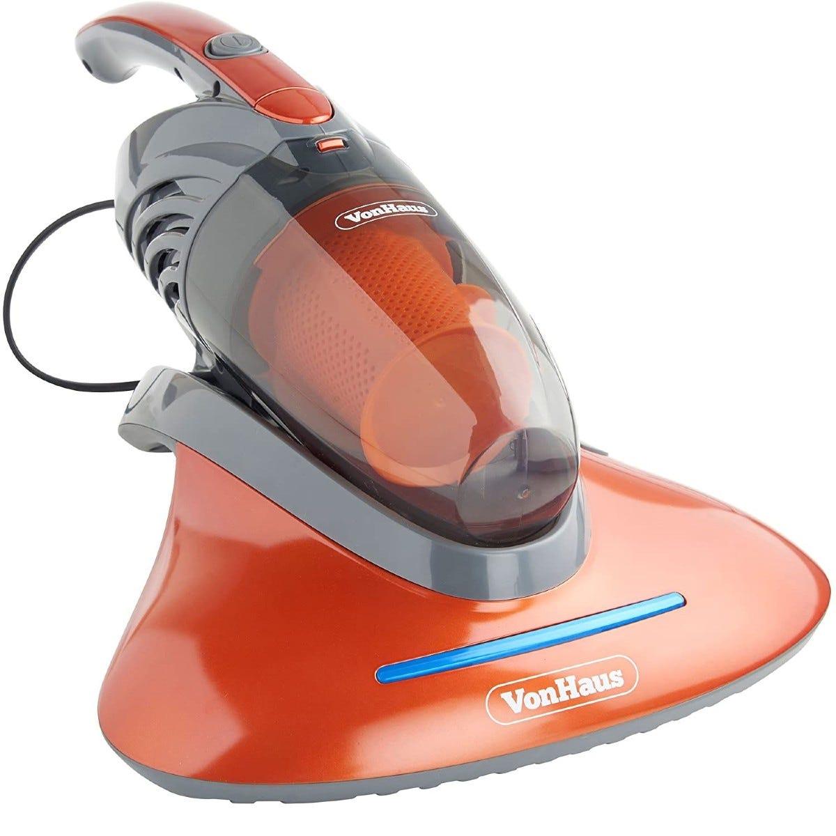 VonHaus Handheld Corded Vacuum Cleaner with UV Light - Red