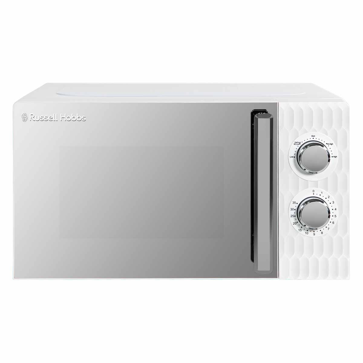 Russell Hobbs RHMMM715 Honeycomb 17L 700W Manual Microwave - White