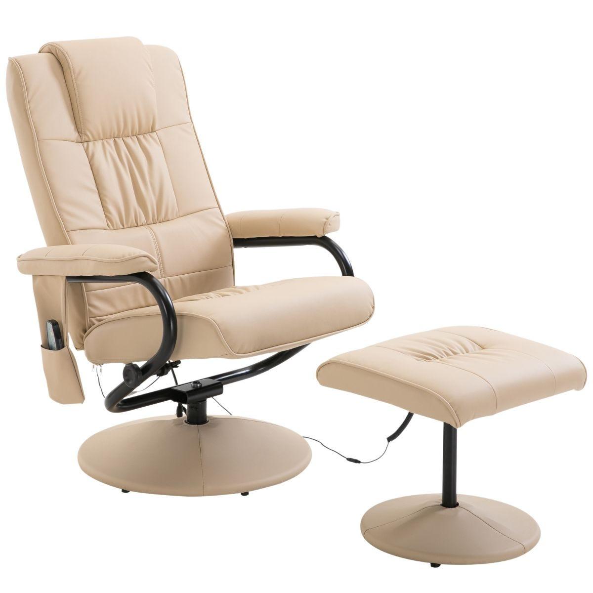 HOMCOM Electric Massage Chair Sofa Recliner Foot Stool 10 Point Massager