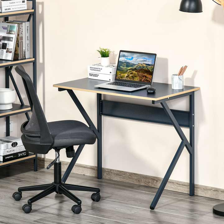 HOMCOM Home Office Desk PC Laptop Table Workstation With K-Shaped Legs
