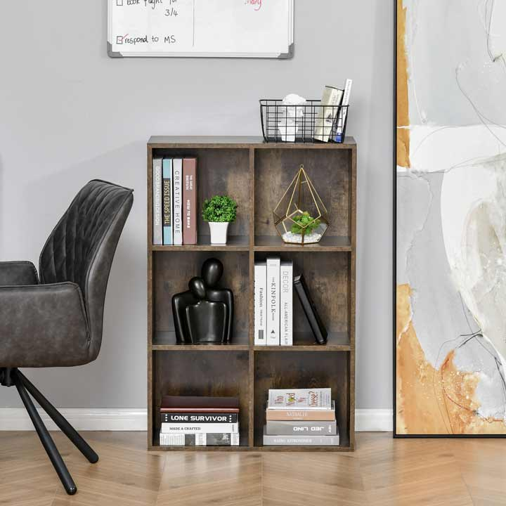 HOMCOM Cabinet Bookcase Storage Shelves Display for Study Home Office