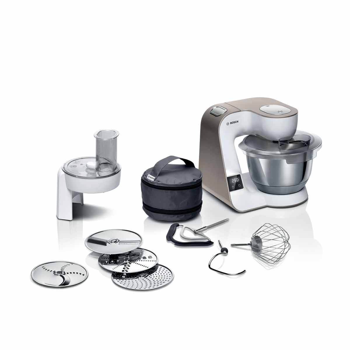 Bosch MUM5XW10GB CreationLine Serie 4 1000W 3.9L Stand Mixer with Integrated Scales - Champagne