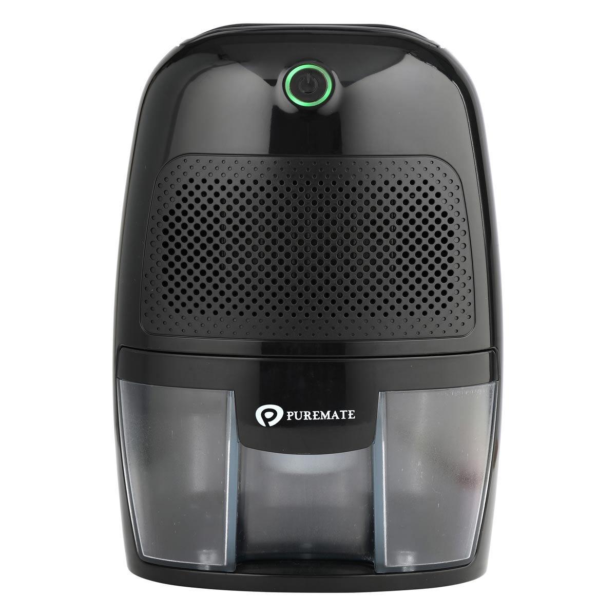 PureMate 600ml Air Dehumidifier for Damp, Mould, Condensation & Moisture - Black