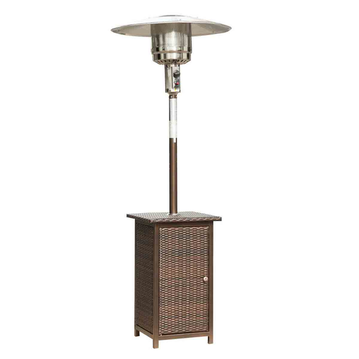 Outsunny Rattan 12kw Gas Patio Heater