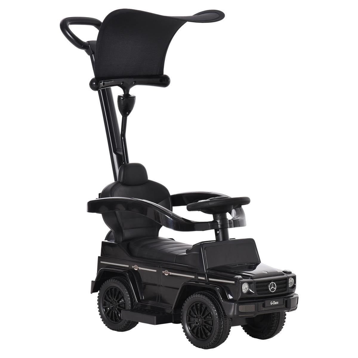 Reiten Kids Benz G350 Ride-on Sliding Car & Stroller - Black