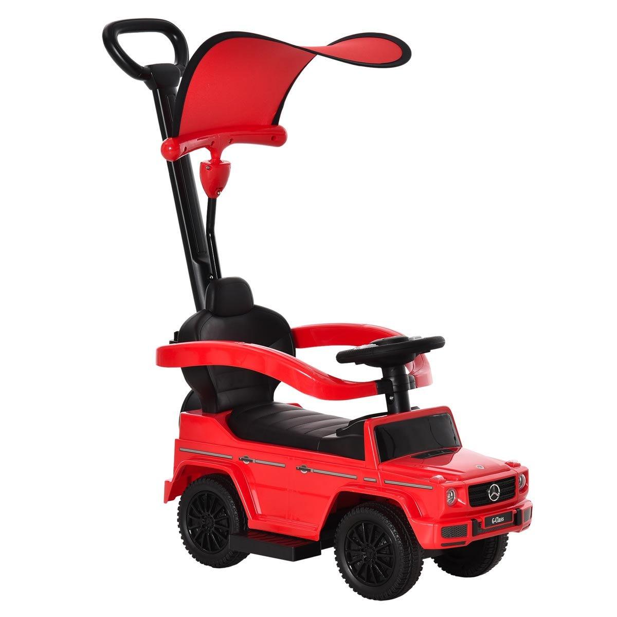 Reiten Kids Benz G350 Ride-on Sliding Car & Stroller - Red