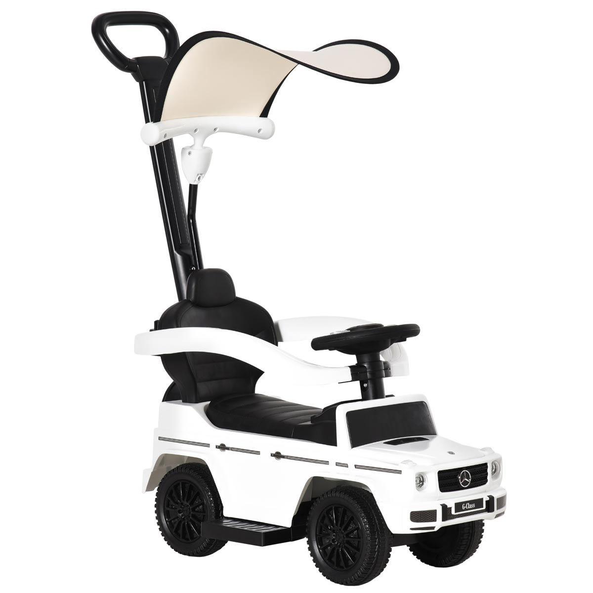 Reiten Kids Benz G350 Ride-on Sliding Car & Stroller - White