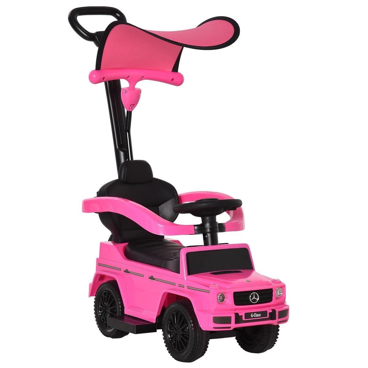 Reiten Kids Benz G350 Ride-on Sliding Car & Stroller - Pink