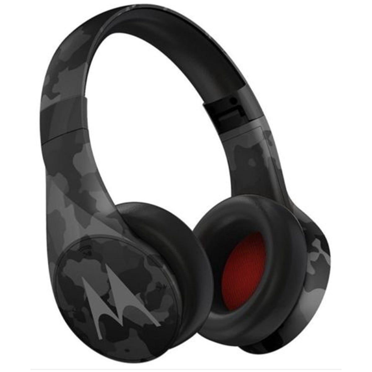 Motorola Pulse + Bluetooth Headphones - Grey Camo