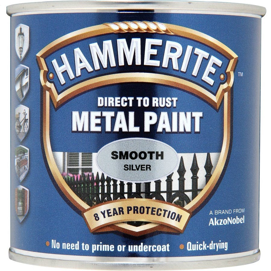 Compare prices for Hammerite Smooth Silver Paint 250ml