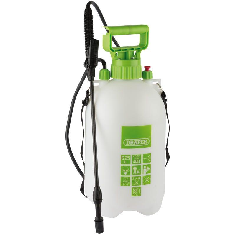 Draper Pressure Sprayer (6.25L) - White & Green