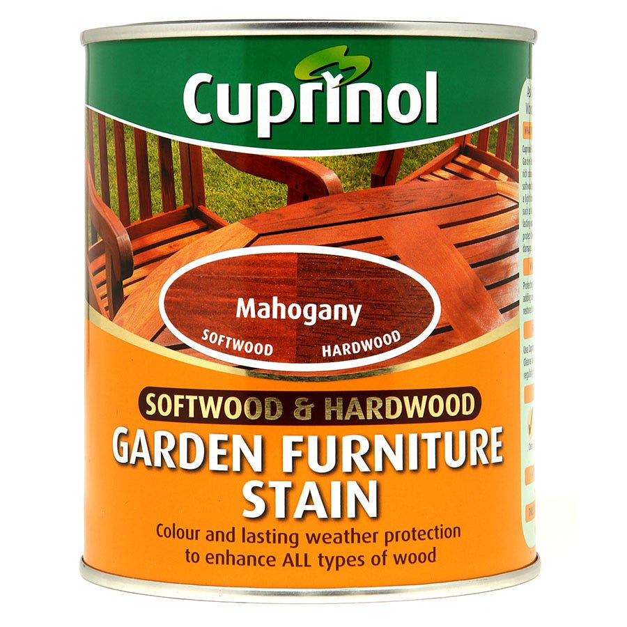 Compare cheap offers & prices of Cuprinol 0.75L Garden Furniture Stain - Mahogany manufactured by Cuprinol