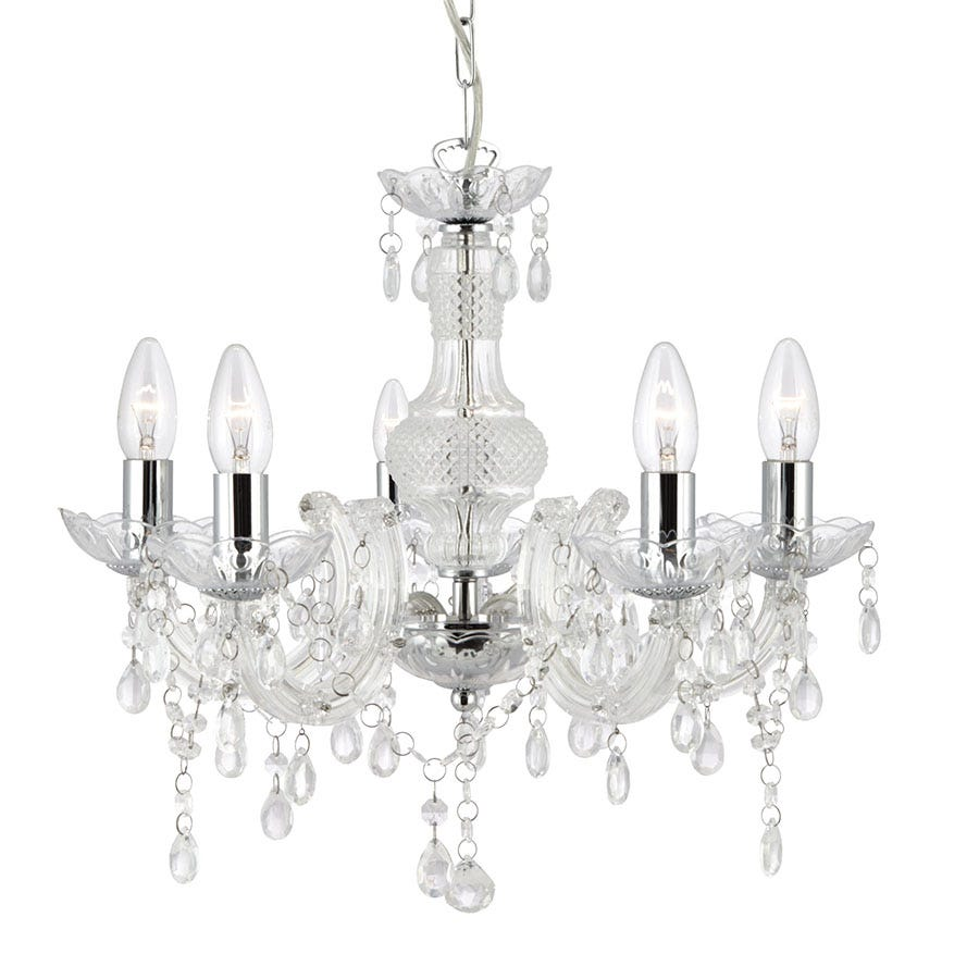 Lighting Raphael 12 Light Champagne Glass Chandelier