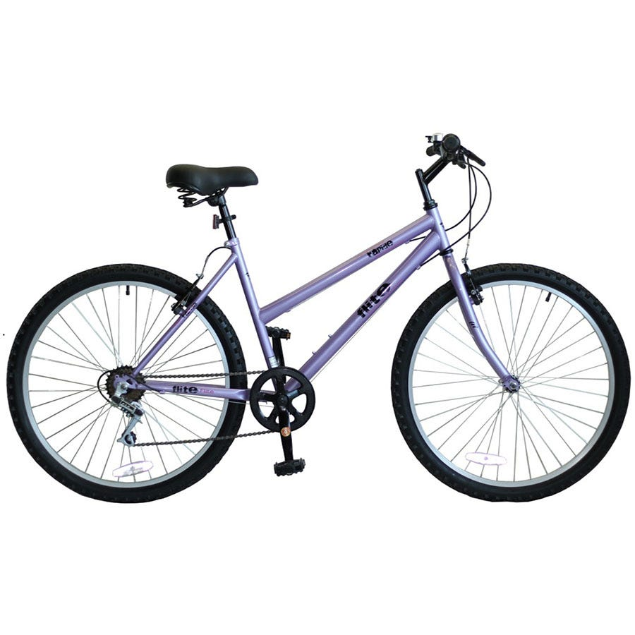 Compare prices for Flite Rapide Ladies Rigid Mountain Bike 18-Inch - Purple