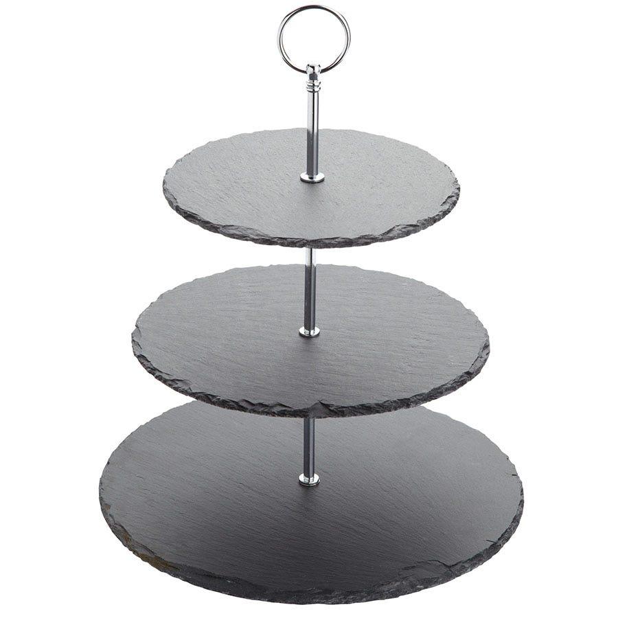 Slate Cake Stand With Dome