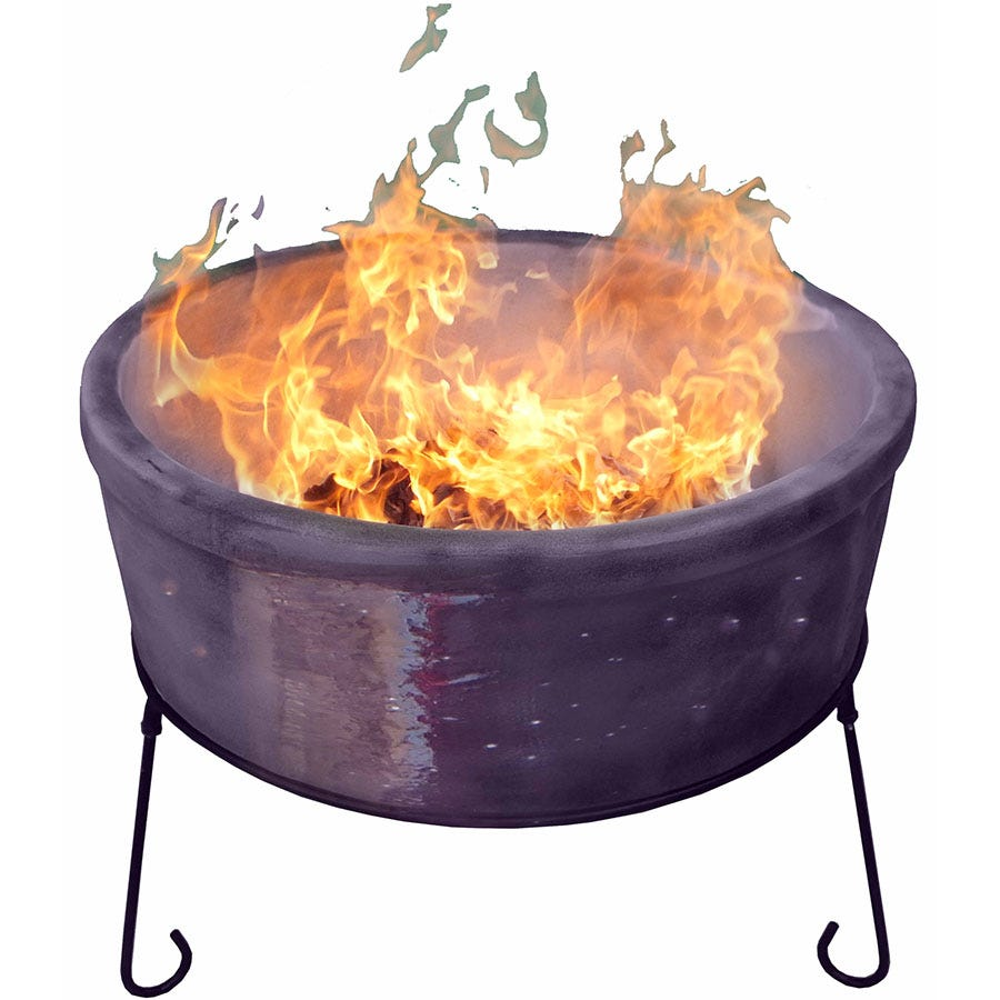 Compare prices for Gardeco Jumbo Atlas AFC Fire Bowl - Mottled Purple