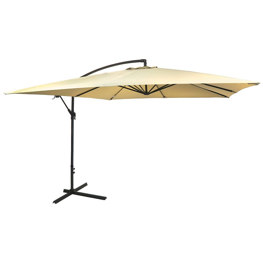 Charles Bentley Square Cantilever Parasol (base not included)- Beige