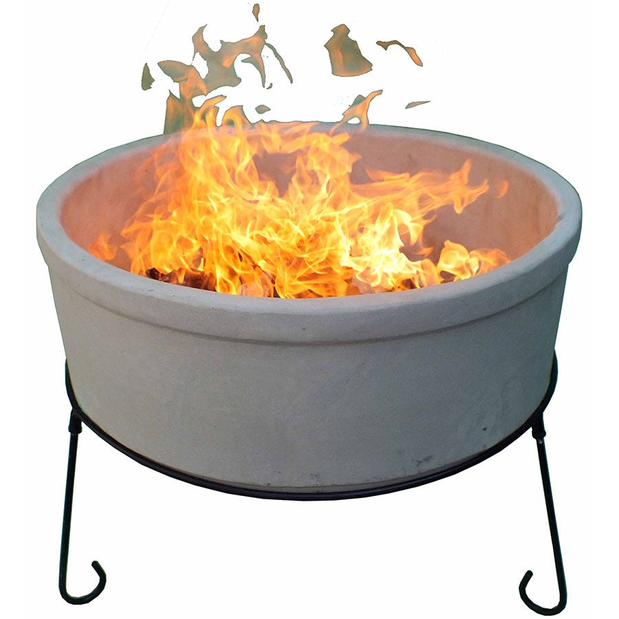 Compare prices for Gardeco Jumbo Atlas AFC Fire Bowl - Natural Clay