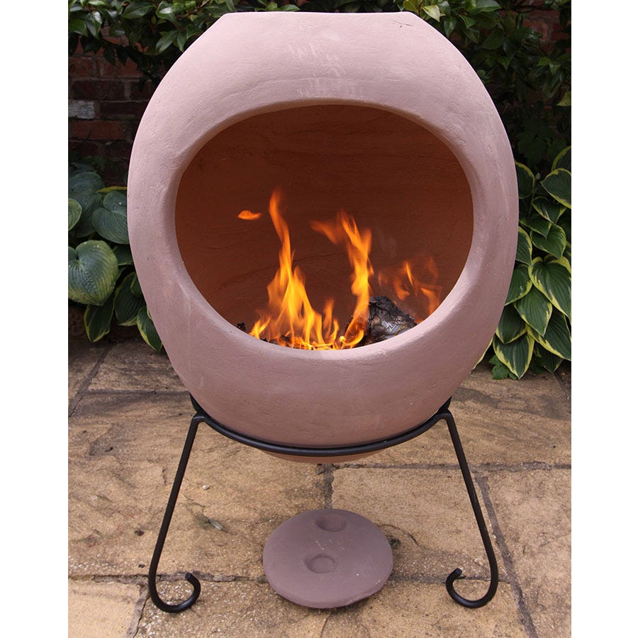 Compare prices for Gardeco Extra-Large Ellipse Mexican Chiminea - Rose
