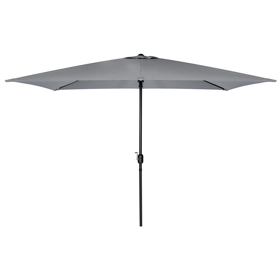 Charles Bentley Rectangular Garden Parasol (base not included) - Grey