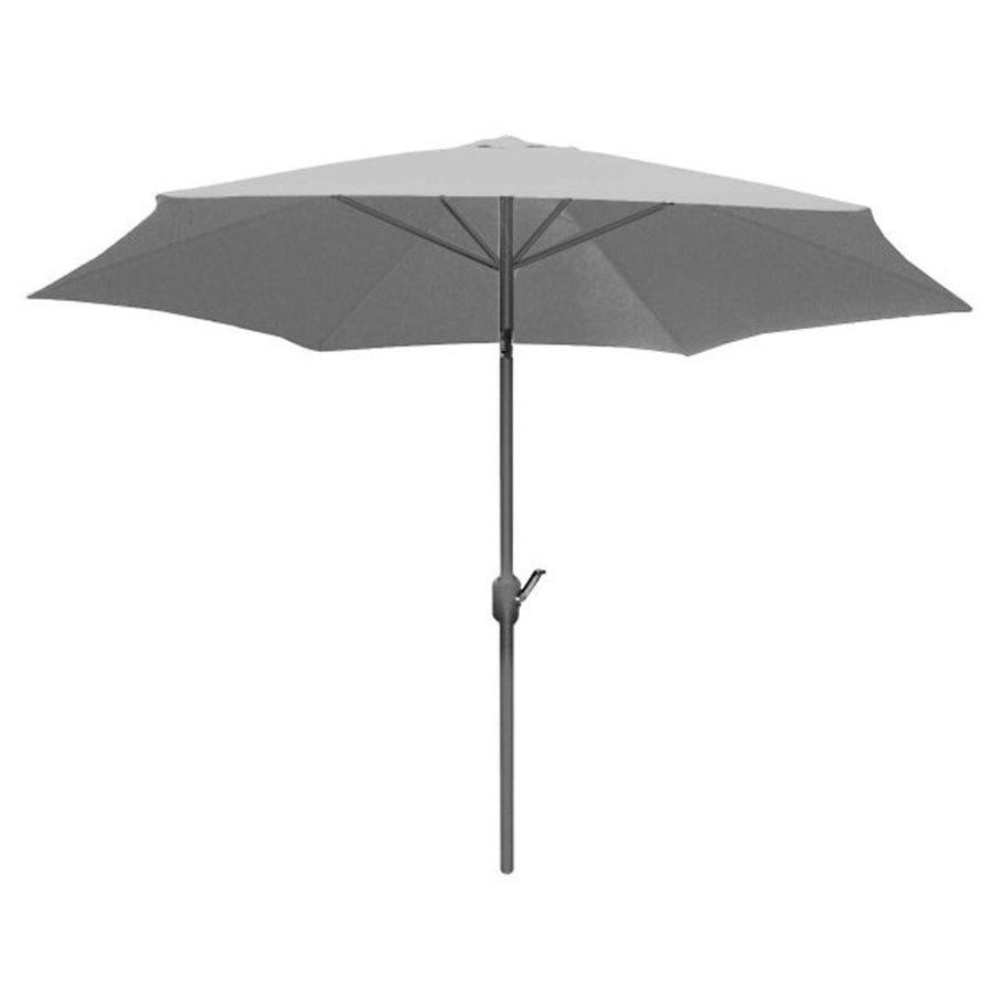 Charles Bentley Market Style Parasol - Light Grey