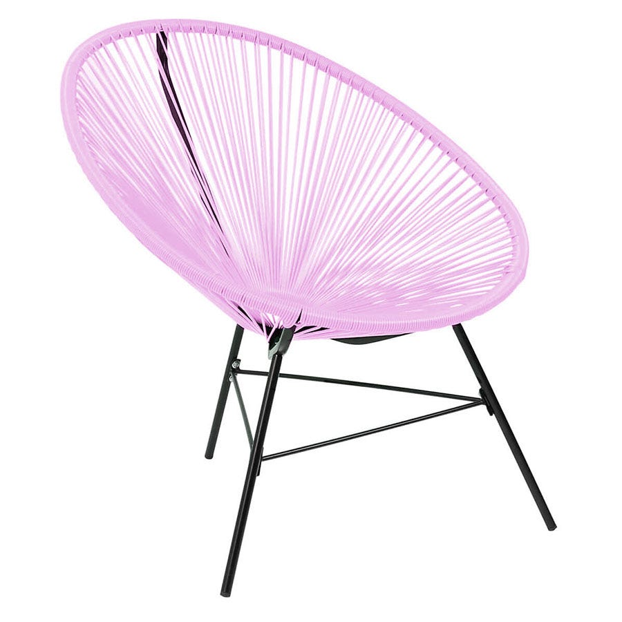 Compare cheap offers & prices of Charles Bentley Retro Lounge Chair - Pastel Lilac manufactured by Charles Bentley