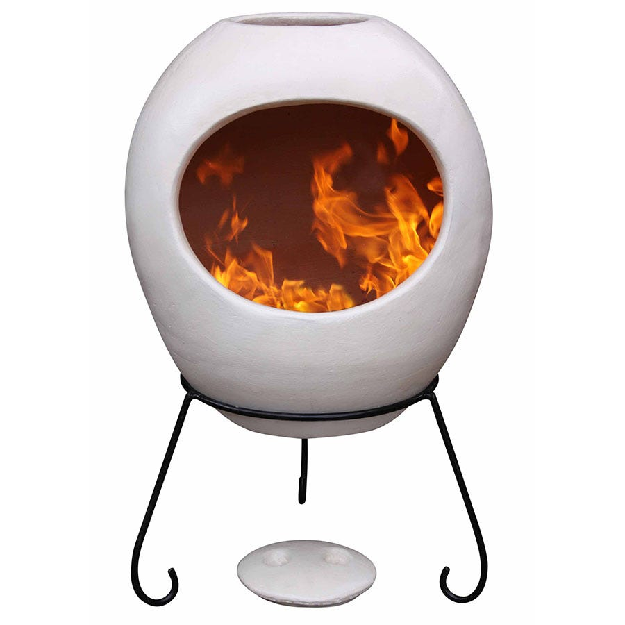 Compare prices for Gardeco Extra-Large Ellipse Mexican Chiminea - Beige