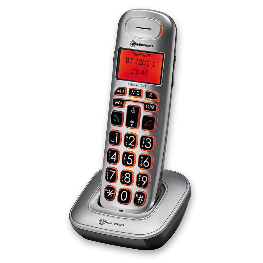 Compare prices for Amplicomms BigTel 1201 Big-Button Amplified Cordless Phone