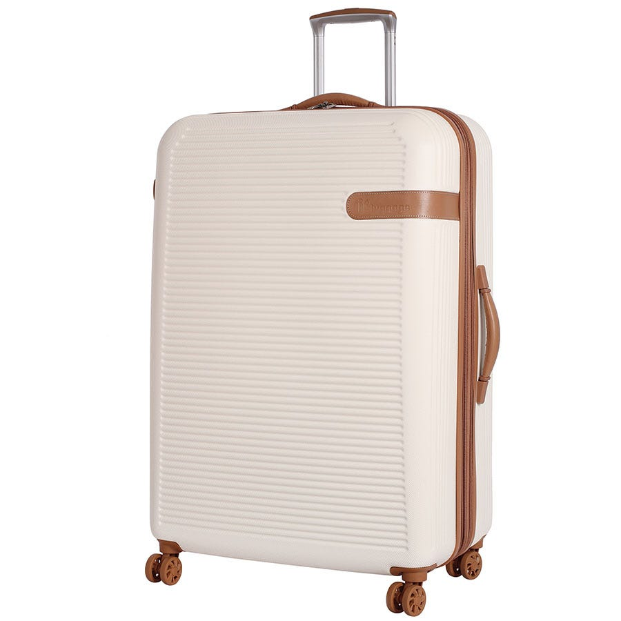 Compare prices for IT Luggage 8-Wheel Hard Shell Large Suitcase - Cream