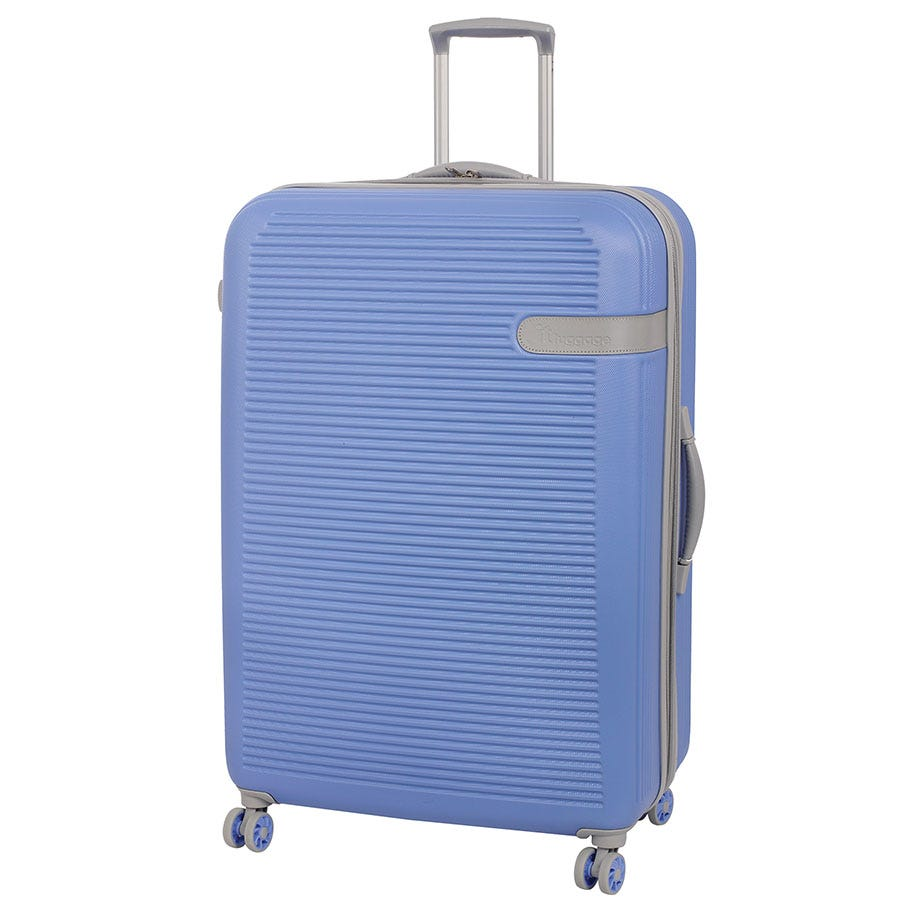 Compare prices for IT Luggage 8-Wheel Hard Shell Large Suitcase - Light Blue