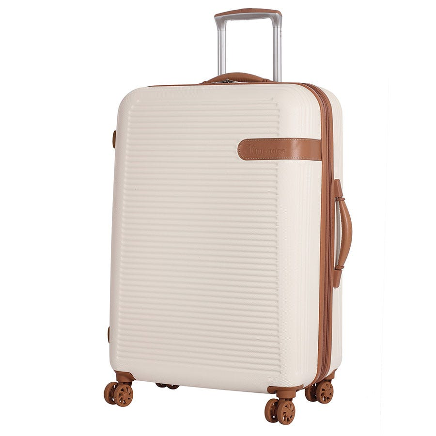 Compare prices for IT Luggage 8-Wheel Hard Shell Medium Suitcase - Cream