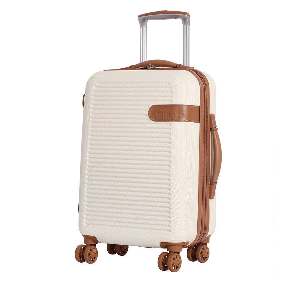 Compare prices for IT Luggage 8-Wheel Hard Shell Cabin Suitcase - Cream
