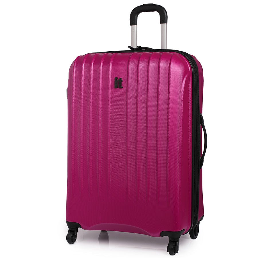 Compare prices for IT Luggage IT 4-Wheel Ultra-Strong Hard Shell Large Suitcase - Raspberry